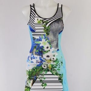 Clover Canyon White & Blue Floral Dress Size Small